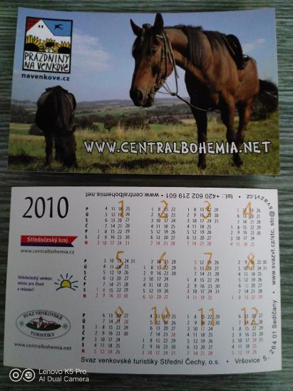 Kartičkové kalendáře rok 2010 - Ostatní