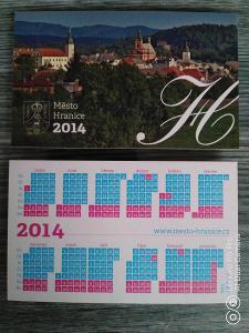 Kartičkové kalendáře rok 2014