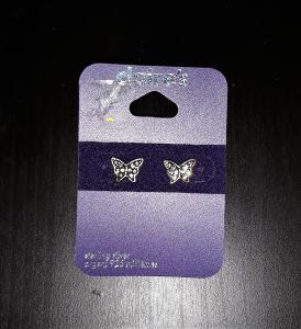 Stříbrné 925. náušnice - Motýlci