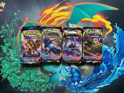 Pokemon TCG Sword & Shield booster packs balíčky
