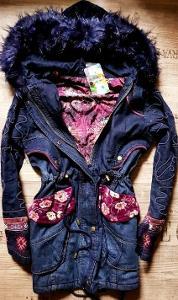 DESIGUAL chaq_Natasha luxusní párka s kožešinou/long bunda/podzim-zima