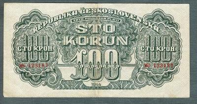 100 korun 1944 serie MO NEPERFOROVANA