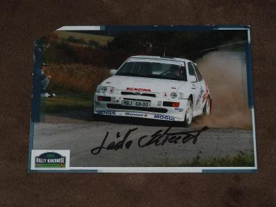 RALLY - Ladislav Křeček - karta Ford Escort, originál podpis