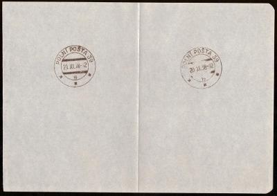 ČSR - POLNÍ POŠTA 39, 8x OTISK RAZÍTKA (S1141)