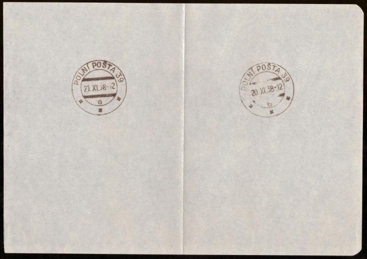 ČSR - POLNÍ POŠTA 39, 8x OTISK RAZÍTKA (S1141) - Filatelie