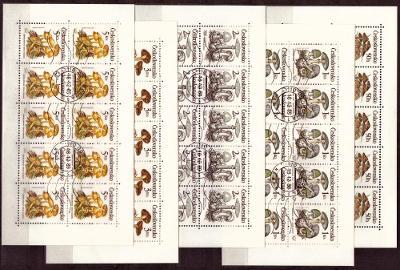 POF. PL 2909-2913 - DESETIBLOKY JEDOVATÉ HOUBY, 1989 (S1171)