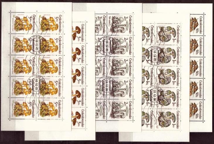 POF. PL 2909-2913 - DESETIBLOKY JEDOVATÉ HOUBY, 1989 (S1171) - Filatelie