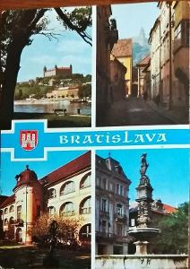 Bratislava Pohled z Petržalky na hrad