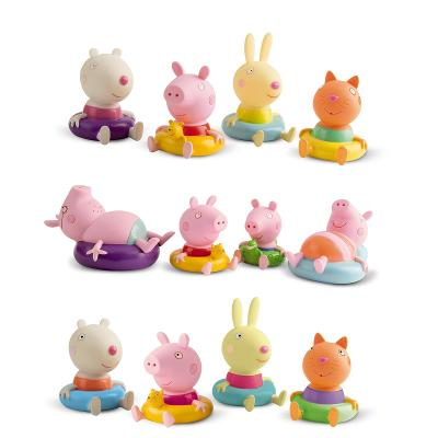 Sada 4 figurek do vany na koupání Peppa Pig - mix modelů