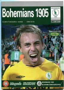 program - Bohemians 1905 - Dynamo České Budějovice - 2009