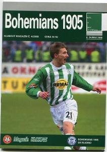 program - Bohemians 1905 - SK Kladno - 2008