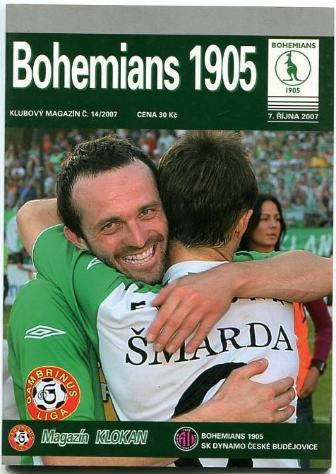 program - Bohemians 1905 - Dynamo České Budějovice - 2007 - Sportovní sbírky