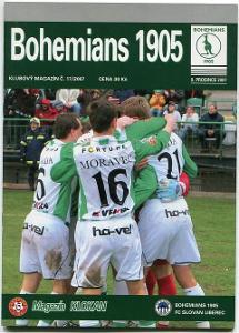 program - Bohemians 1905 - Slovan Liberec - 2007
