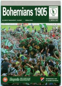 program - Bohemians 1905 - Baník Ostrava - 2007