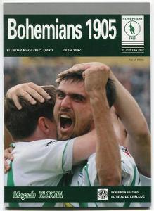 program - Bohemians 1905 - FK Hradec Králové - 2007