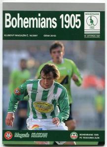 program - Bohemians 1905 - FC Tescoma Zlín - 2007