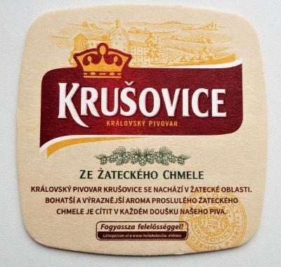 PODTÁCEK - PIVOVAR KRUŠOVICE - EXPORTNÍ PIVO DO MAĎARSKA