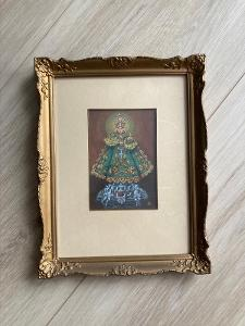 Miniatura Jaroslav Háša tempera na kartonu Pražské Jezulátko