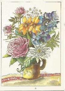 kytice, kresba G. Wongel, k narozeninám (Německo) 4-2990°°