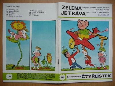 ČTYŘLÍSTEK - číslo 143. - Zelená je tráva