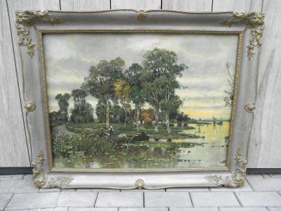 STAROŽITNÝ DŘEVĚNÝ RÁM NA OBRAZ - 94x73 cm