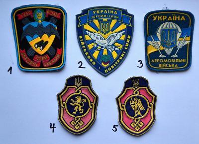 Ukrajina, nášivka na výber (VIZ POPIS!)/FNA-010
