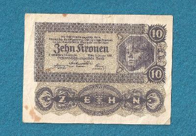 10 KRONEN 1922 - RAKOUSKO
