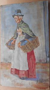 Žena - signováno K. Putz 1925