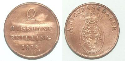 Dánsko 2 S 1818