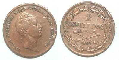 Švédsko 2 S 1850