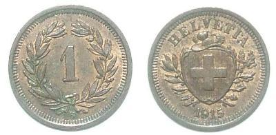 Švýcarsko 1 R 1915