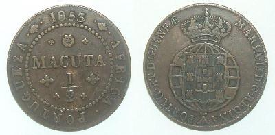 Angola 1/2 M 1853