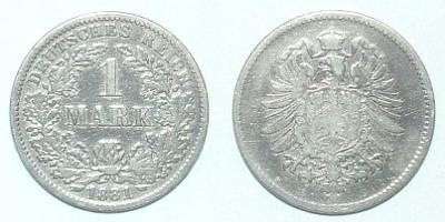 Německo 1 M 1881