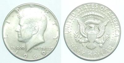 USA 1/2 D 1969