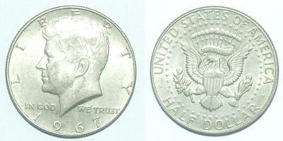 USA 1/2 D 1967