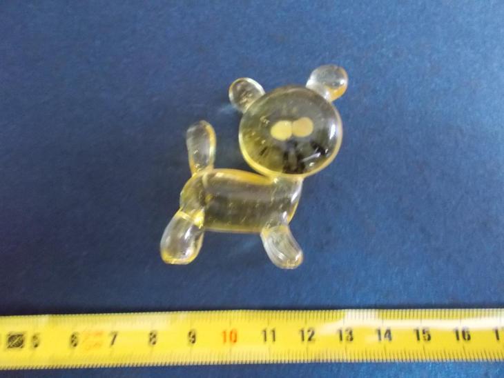 Starožitnost hutní sklo ruční práce figurka pes pejsek hafan - Starožitnosti