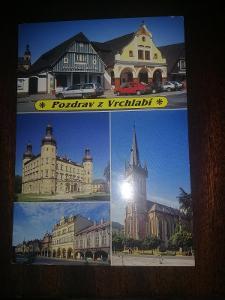 Pohlednice - Pozdrav z Vrchlabí, prošla poštou