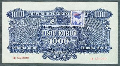 1000 korun 1944 KOLEK serie CK perf. stav 1+