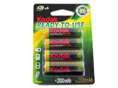 4 x dobíjecí baterie Ni-MH KODAK R06 R6 AA 2100 mAh