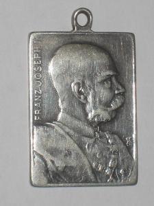 """Medaile F. J. I. """"Družstvu výtvarných umění 1898"""" Ag 800/1000"""