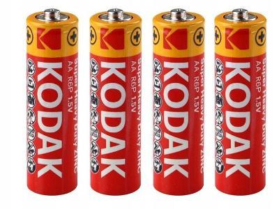 4 x baterie 1,5 V KODAK R03 R3 AA