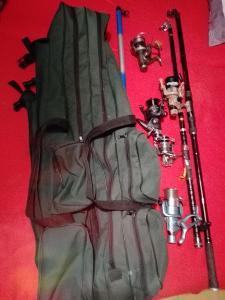 Rybářské pruty+naviaky