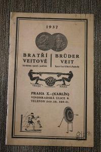 Katalog - Bratři Veitové - ( Sportovní potřeby 1937 ) č.2d