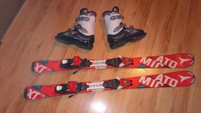 Sjezdové lyže Atomic 110cm + boty Salomon vel.37 EU/stélka 23,5cm