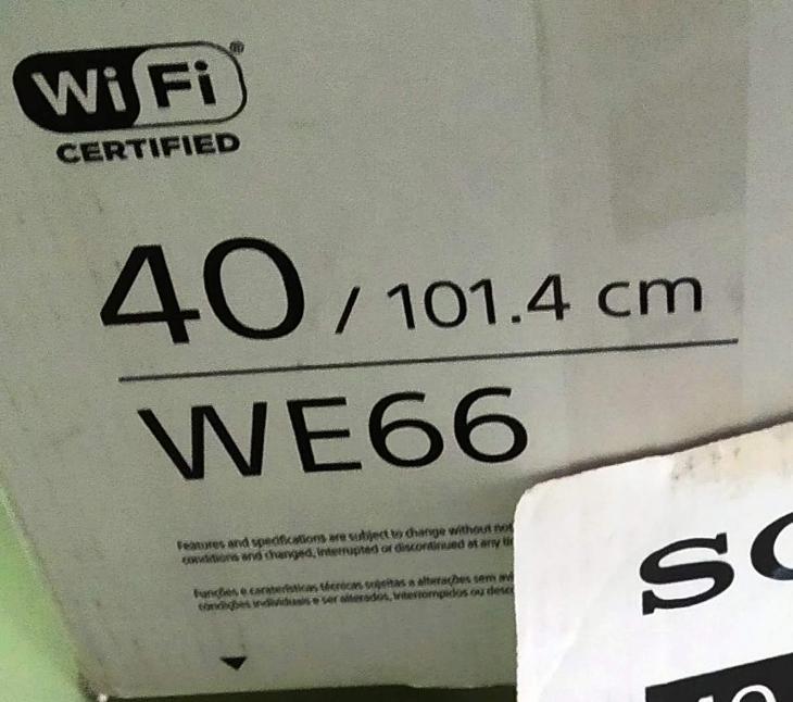 TV SONY KDL-40WE66 na náhradní díly - TV, audio, video