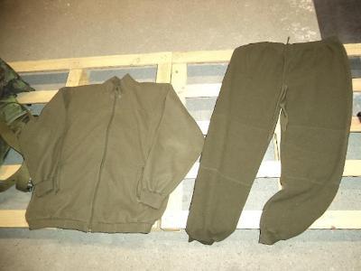 Tepelná vložka do kalhot a blůzy ECWCS ačr - fleecový komplet