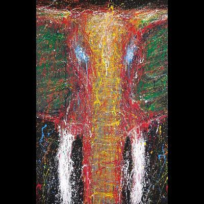 Ivory [acrylic painting 60x90cm]