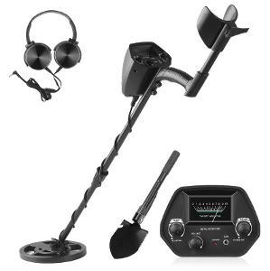 Detektor kovů + lopatka +sluchátka. Skvělý dárek pro dítě, začátečníka