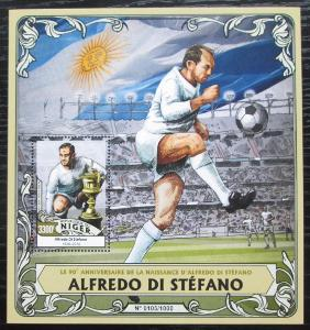 Niger 2016 Alfredo Di Stéfano, fotbalista Mi# Block 508 Kat 13€ 2211