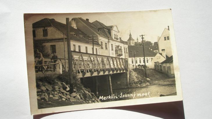 Merklín - železný most - Pohlednice